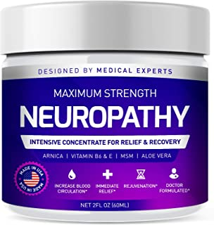 Neuropathy Nerve Pain Relief Cream - Maximum Strength Relief Cream for Foot, Hands, Legs, Toes Includes Arnica, Vitamin B6...