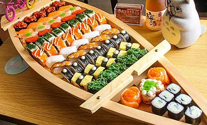 Amazon Com Japanbargain 1584 Wooden Sushi Boat Shape Plate Japanese Sushi Sashimi Serving Plate Tray 75cm For Restaurant Or Home Use 29 56 Inch Platters 213 results for sushi boat. japanbargain 1584 wooden sushi boat shape plate japanese sushi sashimi serving plate tray 75cm for restaurant or home use 29 56 inch