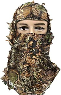 RUNPO Hunting Mask Camouflage 3D Leaf Ghillie Camo Face...