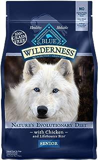 Blue Buffalo Wilderness High Protein Grain Free, Natural Senior Dry Dog Food