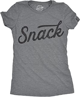 Crazy Dog T-Shirts Womens Snack Tshirt Funny Relationship Nickname Food Tee for Ladies
