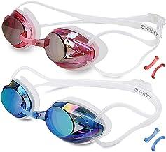 vetoky Swim Goggles, Anti Fog Swimming Goggles UV Protection Mirrored & Clear No..