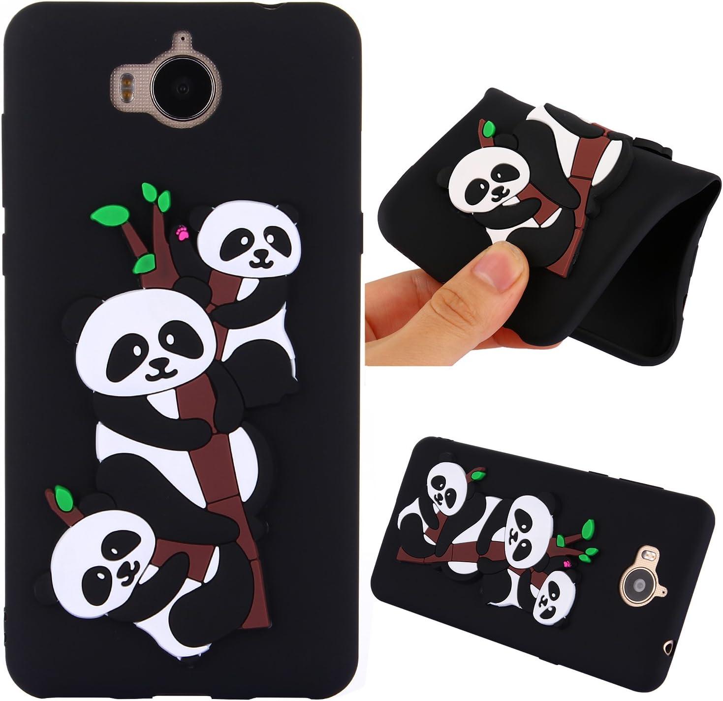 MoEvn Custodia Huawei Nova Young Cover, 3D Panda Protettiva Case in TPU Silicone per Huawei Y5 2017 / Huawei Nova Young Smartphone Ultra Sottile ...