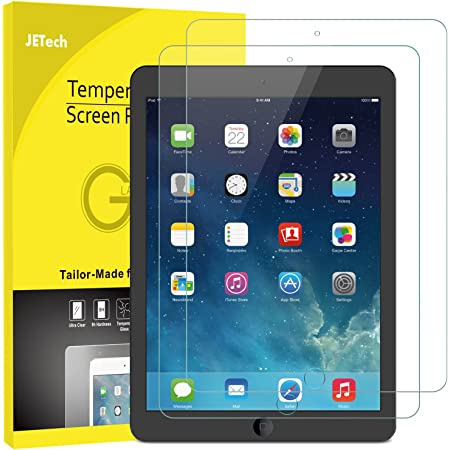 JETech Screen Protector for iPad (9.7-Inch, 2018/2017 Model, 6th/5th Generation), iPad Air 1, iPad Air 2, iPad Pro 9.7-Inch, Tempered Glass Film, 2-Pack