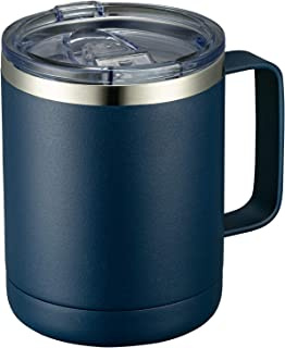 MEWAY 12oz Coffee Mug With Handle and Sliding Lid,Stainless Steel Travel Tumbler Cup with...