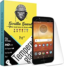Gorilla guard's HD+ Clear Tempered Glass Screen Protector for Moto E5 Play 5.2inches (Pro Series) 8H Hardness, oleophobic,...