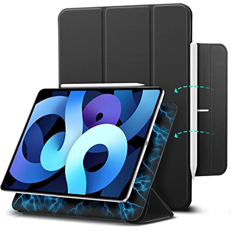 ESR Magnetic Case for iPad Air 4 2020 10.9 Inch / iPad Pro 11 2018 [Convenient Magnetic Attachment] [Trifold Smart Case] [Auto Sleep/Wake Cover] Rebound Series, Black