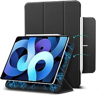 ESR iPad Air 4 ケース 2020&2021 iPad 10.9インチ iPad Pro 11 2018 磁気吸着 第二世代 Pencilのペアリングとワイヤレス充電に対応 オートスリープ ウェイク スリム 軽量 シルク手触り 高級...