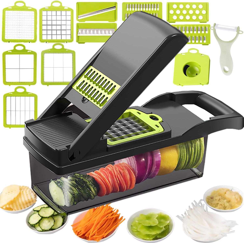 Mandoline Slicer Salad Chopper Spiralizer Vegetable Slicer Food