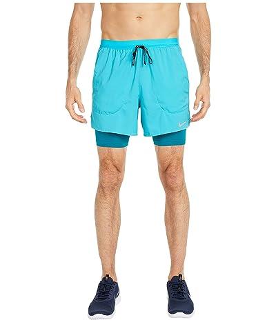 Nike Flex Stride 2-in-1 Shorts 5 (Oracle Aqua/Reflective Silver) Men