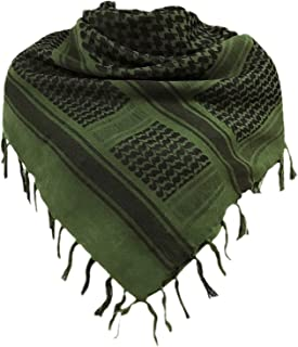 Shemagh Scarf Men 100% Cotton Military Mens Scarf Tactical Desert Arab Scarf for Men