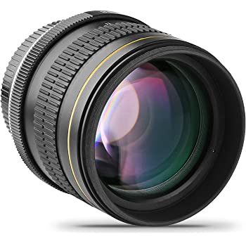 Opteka - Lente telescópica (85 mm, f/1.8, enfoque manual, tamaño ...