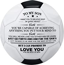 Kenon Printed Soccer Ball/Football Toy to Your Son - Anniversary Birthday Wedding Graduation Gifts - Perfect for Outdoor &...