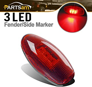 Partsam Replacement for Chevy and GMC 99-12 LED Side Dually Bed Fender Marker Light Rear