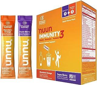 Nuun Immunity3, Electrolyte powder, Elderberry, Vitamins, Prebiotics, Zinc, Mixed Pack, 14 count