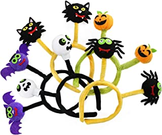 Halloween Pumpkin Bat Spider Cat Skeleton Design Headbands 5pcs Kids Party Dress Up