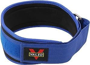 VALEO Nylon EVA Weightlifting Belt, AL161, Blue, S