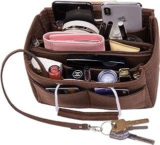 【Enmain】バッグインバッグ キーホルダー付き 大容量収納 インナーバッグ フェルト 16ポケット 軽量 自立 ポーチ 仕分け小物整理 出勤 旅行 通学 レディース メンズ bag in bag(9色3サイズ)