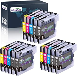 OfficeWorld Compatible Ink Cartridges Replacement for Brother LC-61 LC61, Work with Brother MFC-495CW, MFC-490CW, MFC-6490...