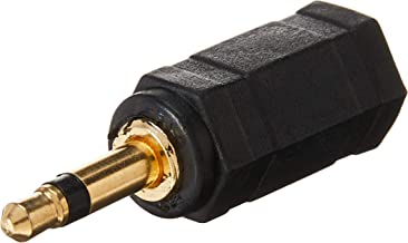 Monoprice 107128 3.5mm Mono Plug to 3.5mm Stereo Jack Adaptor, Gold Plated