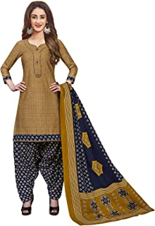 Jevi Prints Women's Cotton Printed Readymade Stitched Salwar Suit Dupatta (SUIT_CP-235)