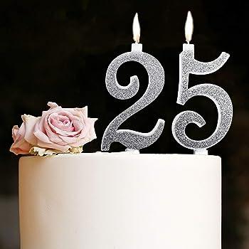2x Candela Luminosa Fontana Fiaccola ARGENTO Durata 40 secondi Magic Flamb/è effetto ghiaccio party ecc. feste ideale per compleanni