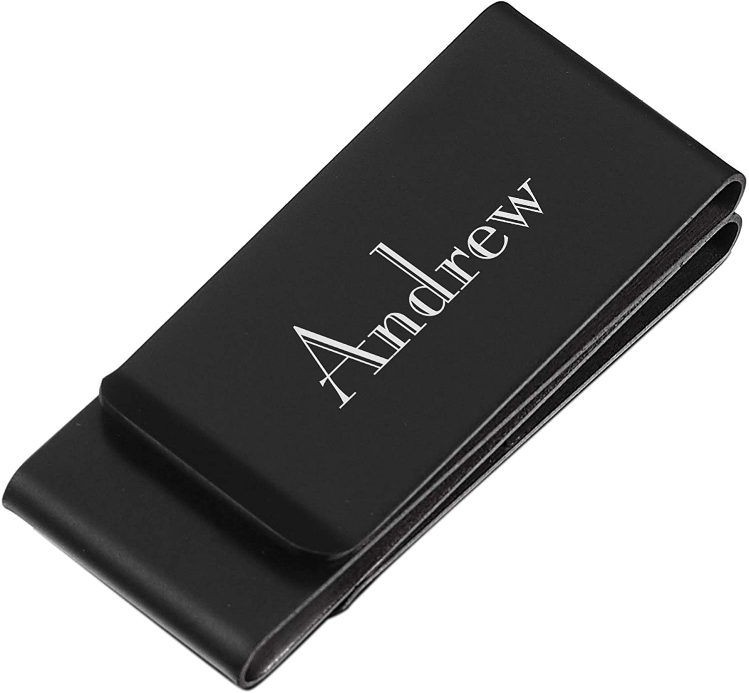 Personalized Visol Noble Double Fold Matte Black Money Clip with Free Laser Engraving