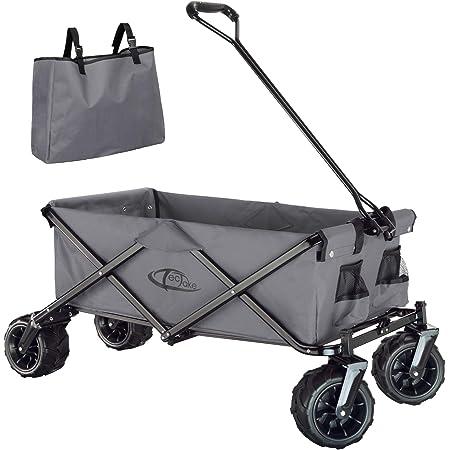 TecTake 800576 Chariot de Jardin Tout-Terrain, Max 80 kg, Pliable en Un Seul Geste - diverses Couleurs - (Gris   n° 402910)