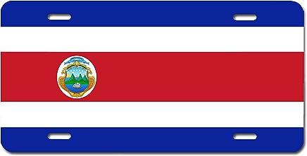 Bandera de Costa Rica placa de licencia por Carpe Diem diseños, fabricado en el EE. UU.