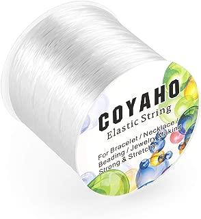 100m/328ft Stretchy String for Bracelets, 1mm Elastic String for Bracelets, Stretch Cord Elastic String for Jewelry Making, Stretchy Bracelet Cord Bead String, Elastic Beading String, White
