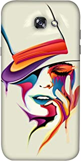 Colorking Ck1Ss016Abs0073 Matte Finish Mobile Shell Case Cover For Samsung Galaxy A3 2017 - Abstract, Multi Color