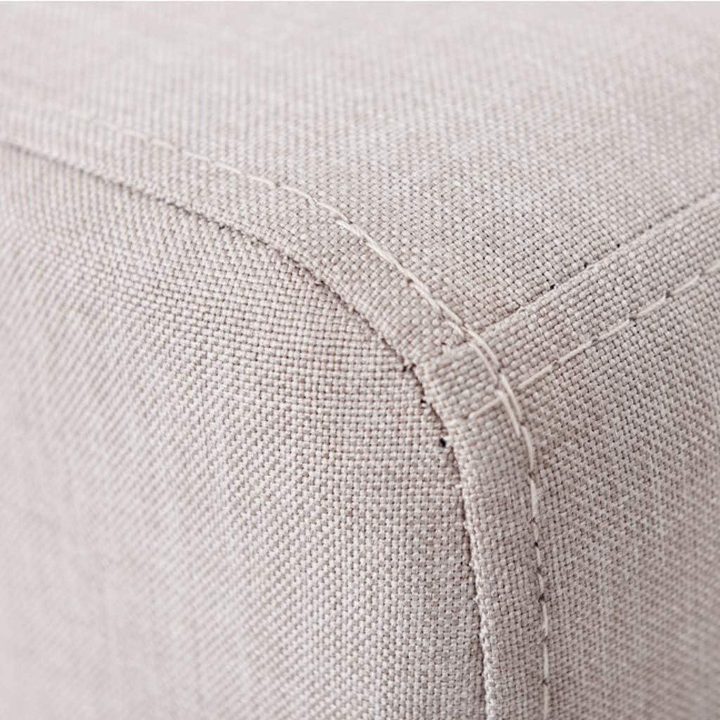 HOMRanger Tabouret de Rangement Pouf Court Rond rembourré Pouf en Bois à 3 Pieds Tabouret Simple Chaise Couch Home Footstool (Couleur: Matcha) 1