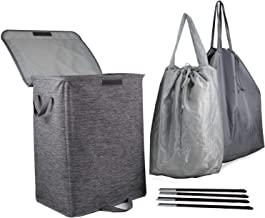 Robylin Extra Large Collapsible Laundry Hampers with Lid & 2 Removable Laundry Bags, Foldable Laundry Baskets with Handles...