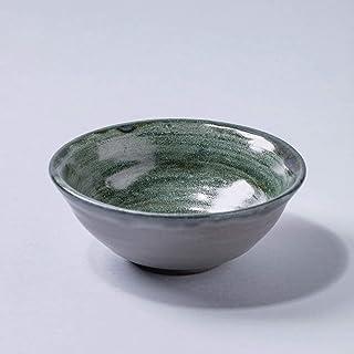 Cuenco de cerámica vintage rústico hecho a mano Decoración para el hogar esmalte gris verde texturizado