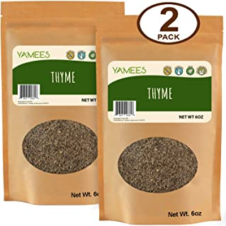 Yamees Thyme – Thyme Leaves – Dried Thyme – Thyme Herb – Thyme Spice – Spanish Thyme - Bulk Spices - 2 Pack of 6 Ounce Each - Thyme Seasoning