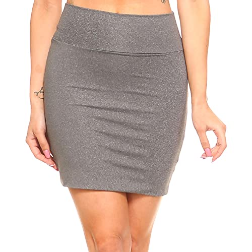 0c73113e3b6 Grey Mini Skirt: Amazon.com