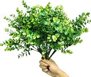 WsCrafts 6Pack Artificial Boxwood - Artificial Shrubs Greenery Boxwood Stems Fake Plants Foliage for Home, Wedding, Garden, Office, Farmhouse, Patio, Indoor and Outdoor Decor