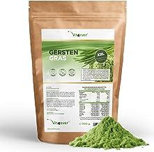 Vit4ever® Gerstengras - 1100 g (1,1 kg) - Einführungspreis - Junges Gerstengraspulver - Herkunft Niederlande - Reich an Mineralien & Vitaminen - 100% Barley grass - Vegan - Superfood