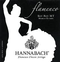 Hannabach Cuerdas Para Guitarra Clasica, Serie 827 Tension Media Flamenco Classic - Juego 3 Cuerdas Graves Re4+La5+Mi6