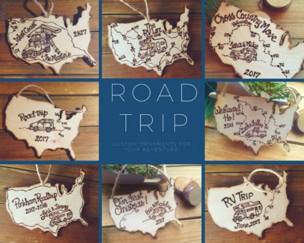 Road Trip Ornament to celebrate your fu 価格 交渉 送料無料新品 送料無料 Family Vacation travels