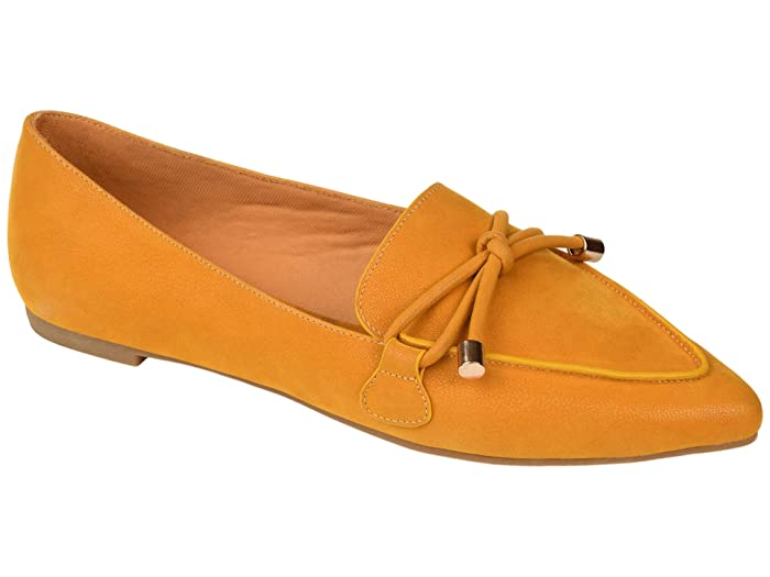 Retro Vintage Flats and Low Heel Shoes Journee Collection Muriel Flat Mustard Womens Shoes $44.99 AT vintagedancer.com