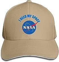 Unisex I Need My Space NASA Adjustable Snapback Trucker Hat Ash One Size