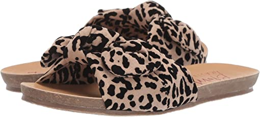 Natural/Black Leopard Flocked Microfiber