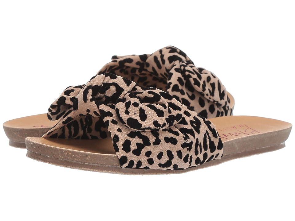Blowfish Kids Gett K (Little Kid/Big Kid) (Natural/Black Leopard Flocked Microfiber) Girls Shoes