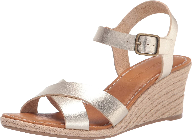 Amazon Essentials Women's Two Sandal Espadrille Piece Max 67% OFF Wedge Dedication