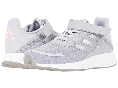 adidas Kids Duramo SL (Little Kid) (Glory Grey/Silver Metallic/Light Flash Orange) Girls Shoes