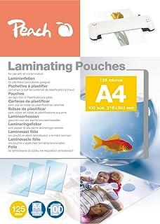 Peach lamineringsfolie A4, 125 mic, PP525-02, 100 stycken