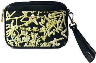 Graffiti Wallet Belt Bag Wristlet Black Neon