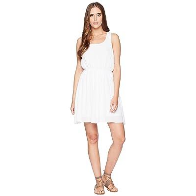 Stetson 1577 Rayon Crepe Sleeveless Dress (White) Women