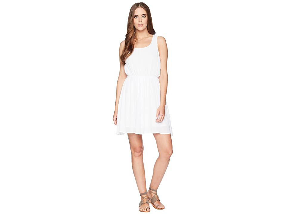 Stetson 1577 Rayon Crepe Sleeveless Dress (White) Women